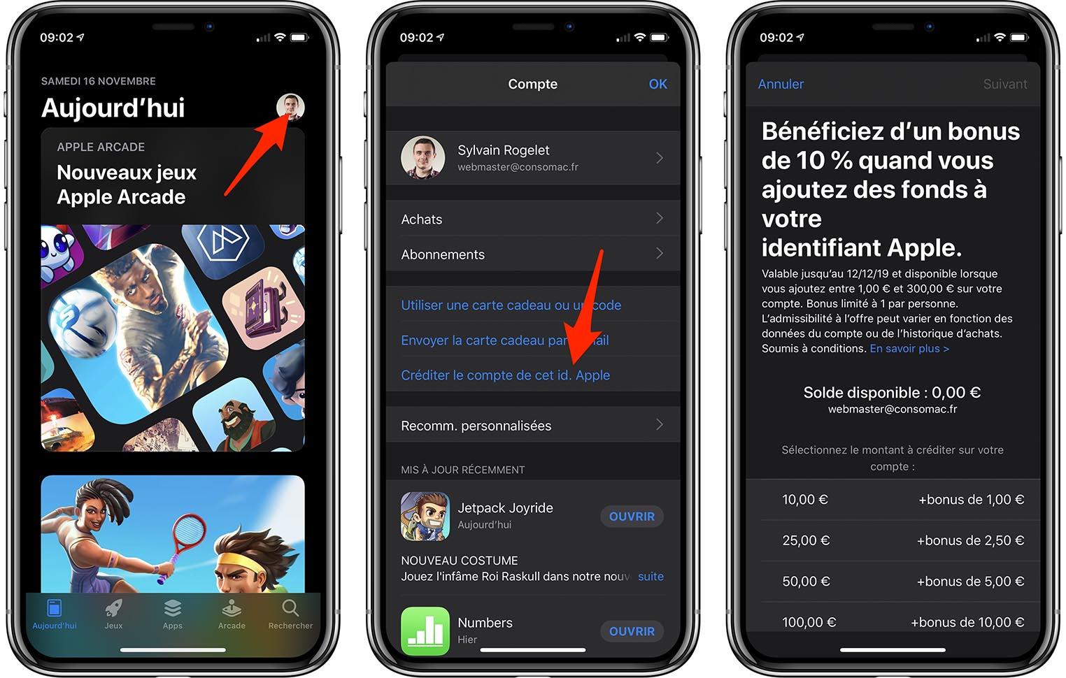 Bonus recharge compte Apple