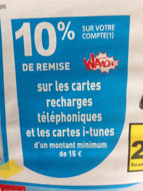 Carte Auchan Reduction.Consomac 10 Sur Les Cartes Itunes A Auchan