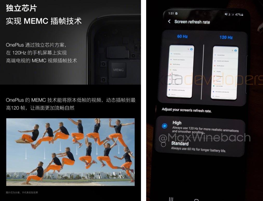 120 Hz OnePlus Samsung