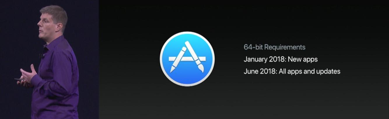 32 bits macOS High Sierra support