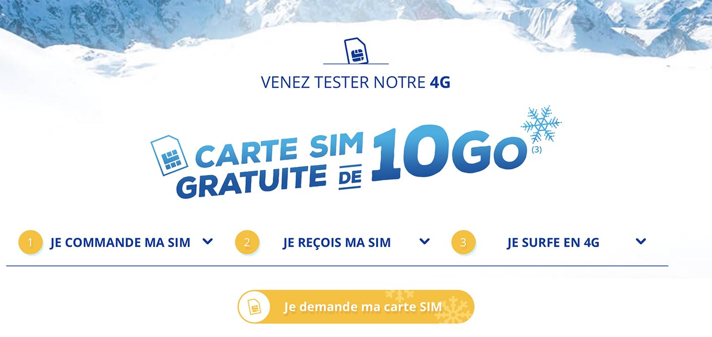 4G Bouygues 10 Go offerts