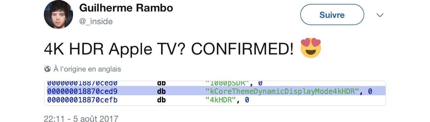 Apple TV 4K confirmed