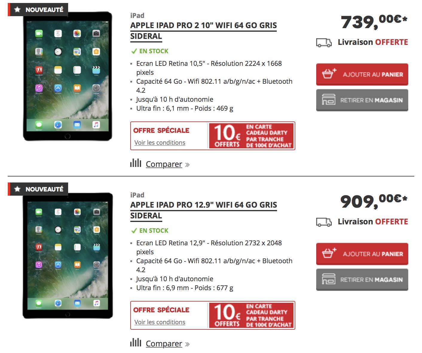 Darty iPad Pro