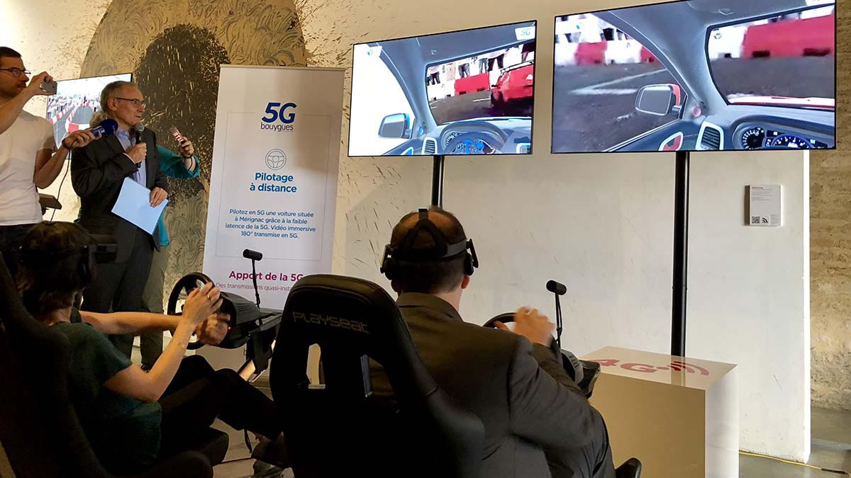5G Bouygues France test pilotage