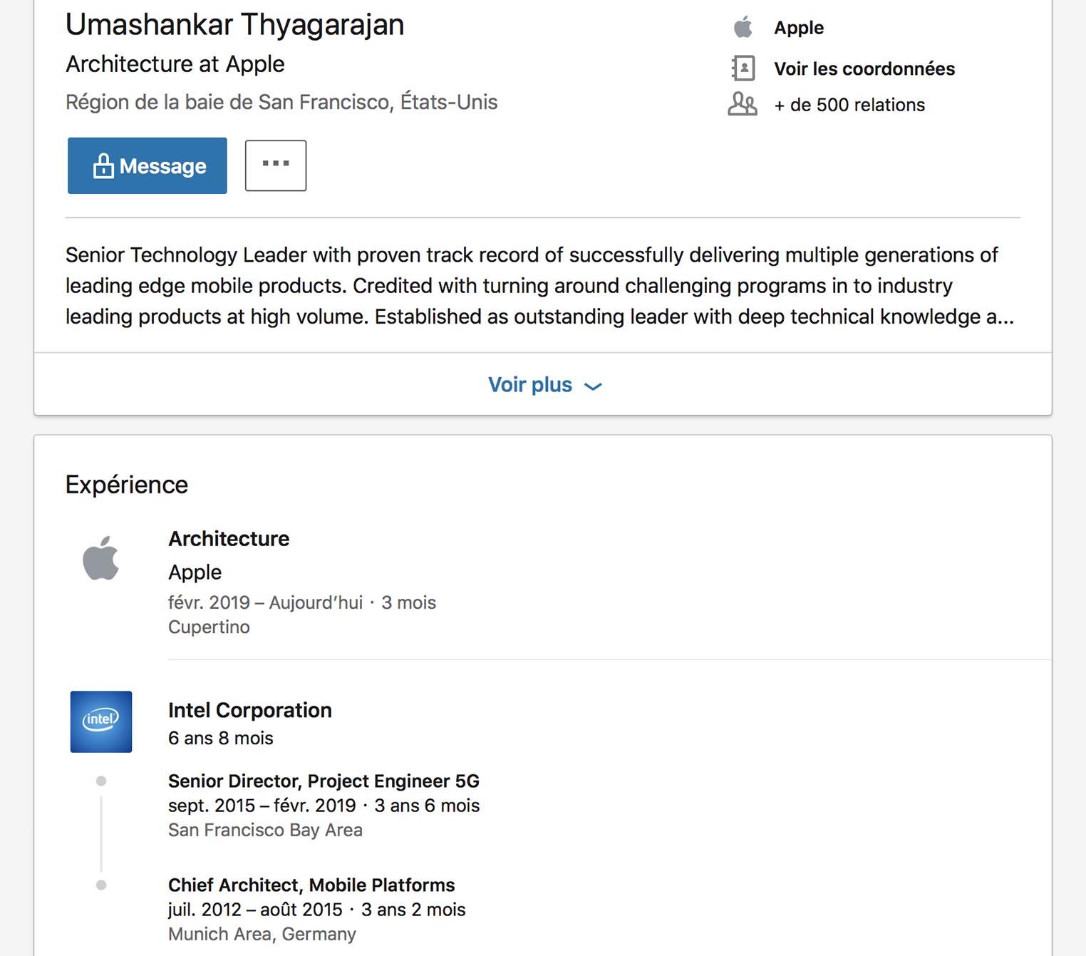 LinkedIn Umashankar Thyagarajan