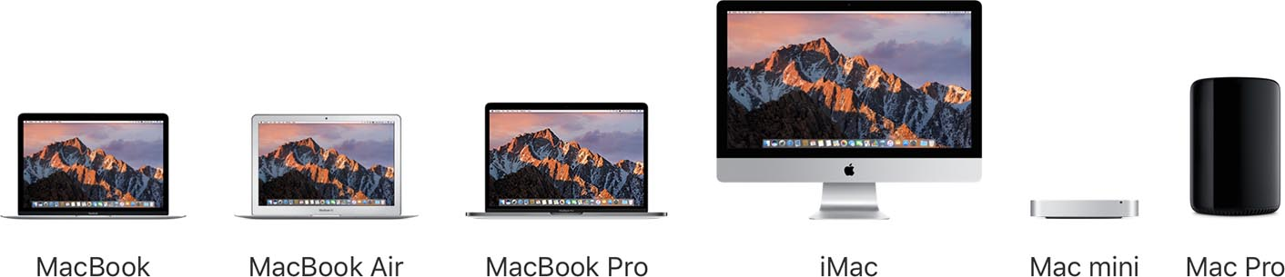 Gamme Mac 2016