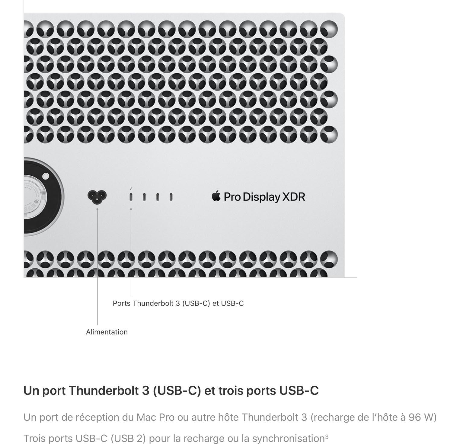 Apple écran Pro XDR 96 W
