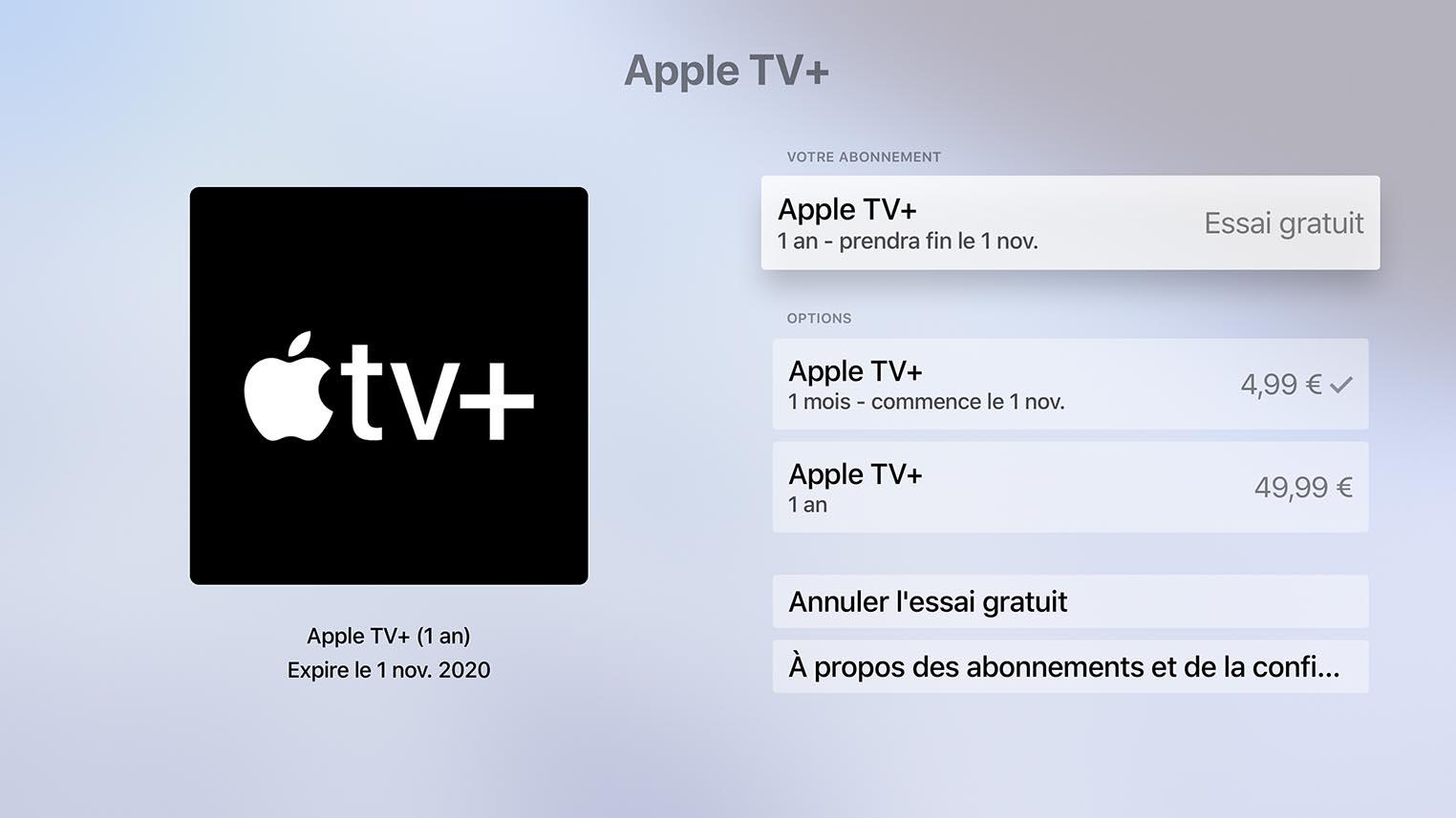 Abonnement Apple TV+