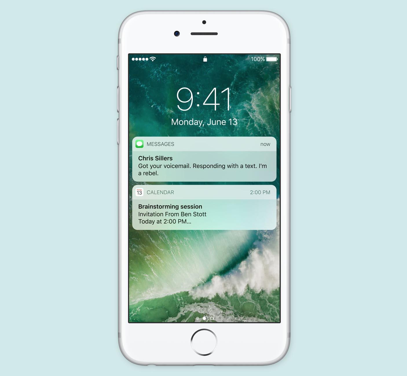Écran accueil iOS 10