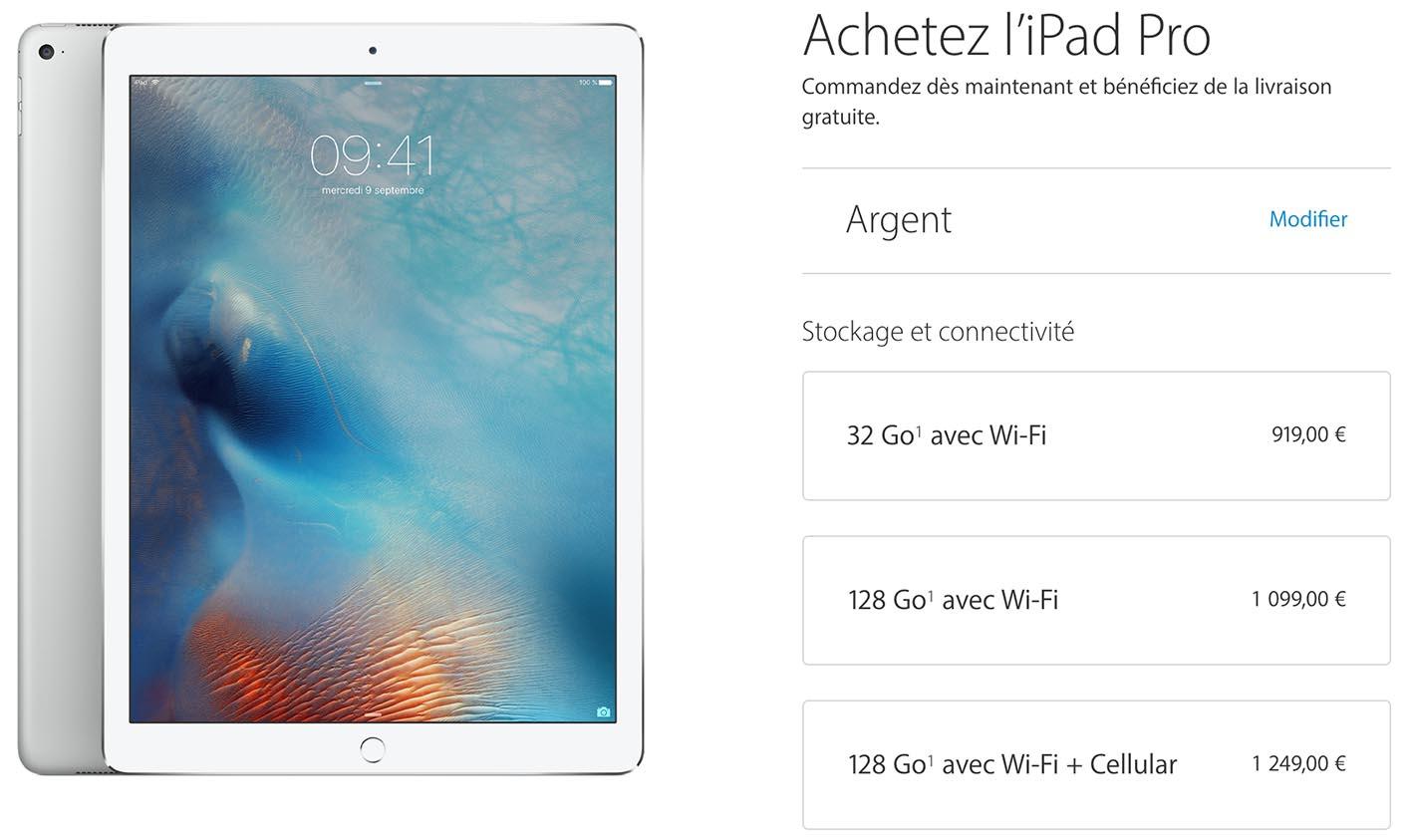 Acheter iPad Pro