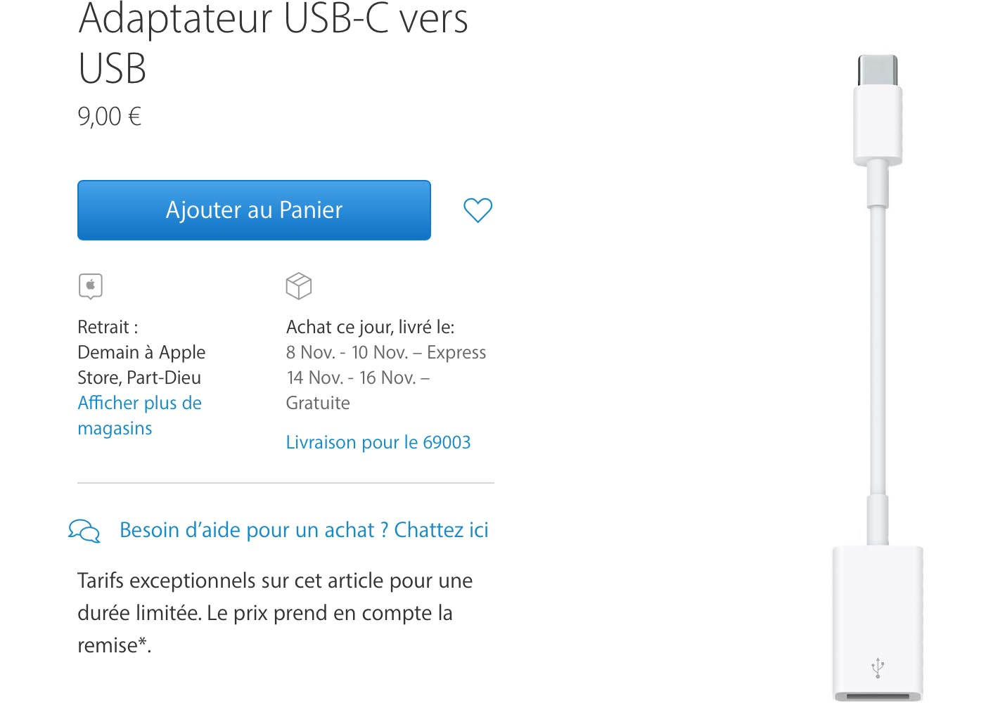 Adaptateur USB-C Apple