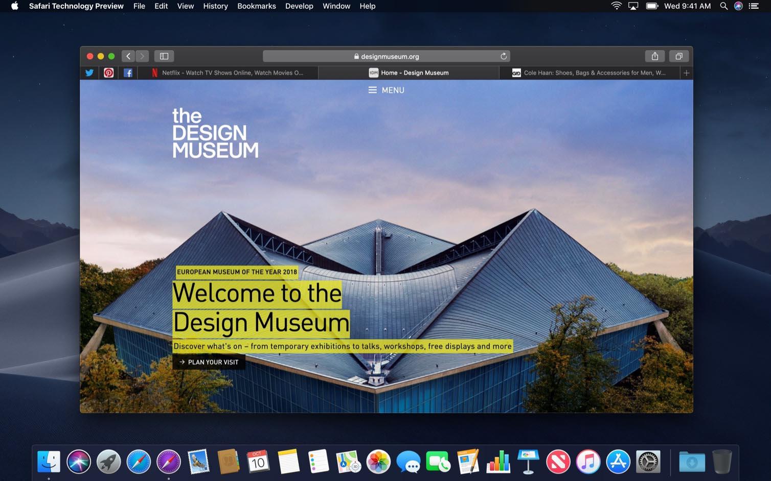 Safari Developer Preview
