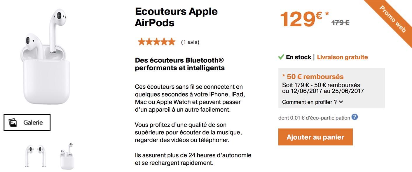 AirPods promo Orange