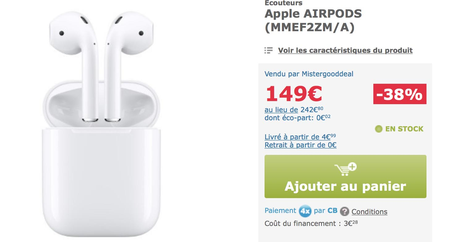 AirPods MisterGoodDeal