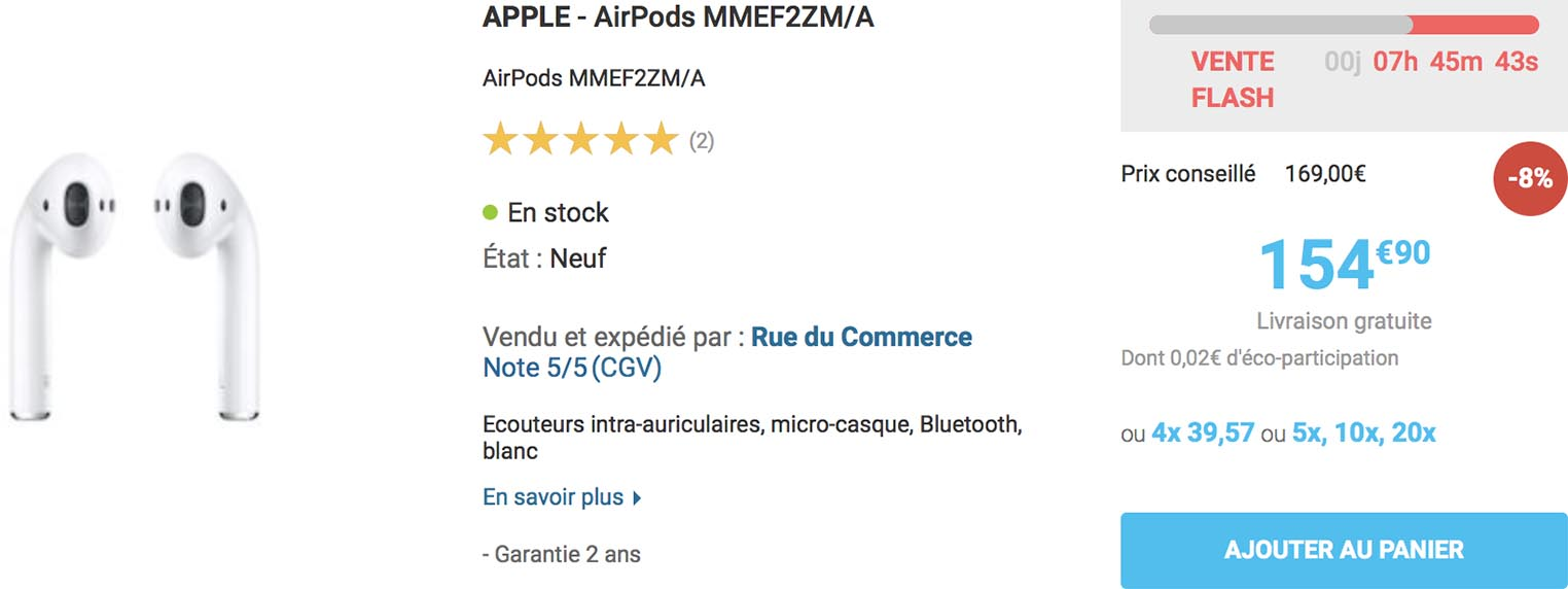 AirPods Rue du Commerce