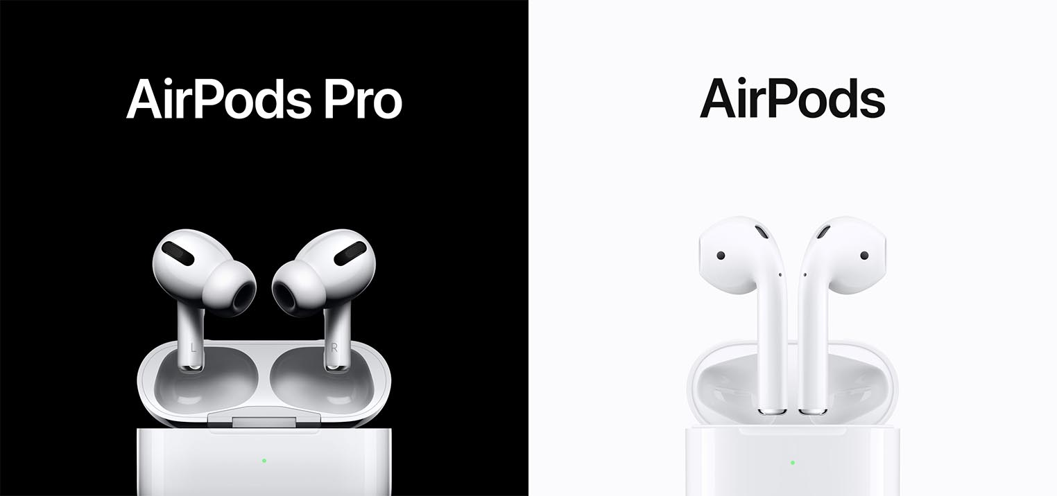 AirPods Pro AirPods 2 comparaison