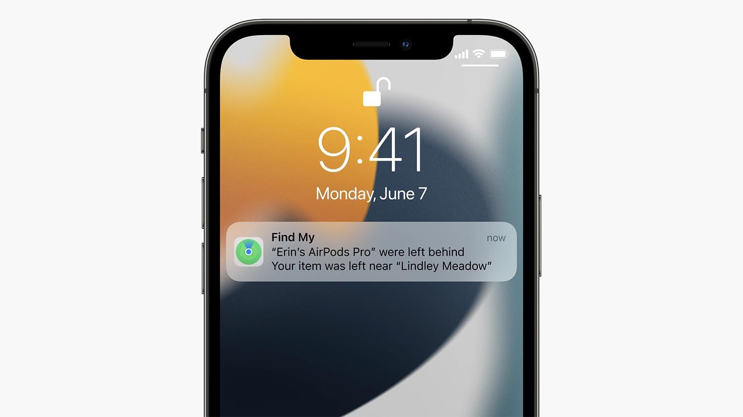 iOS 15 AirPods alerte de séparation