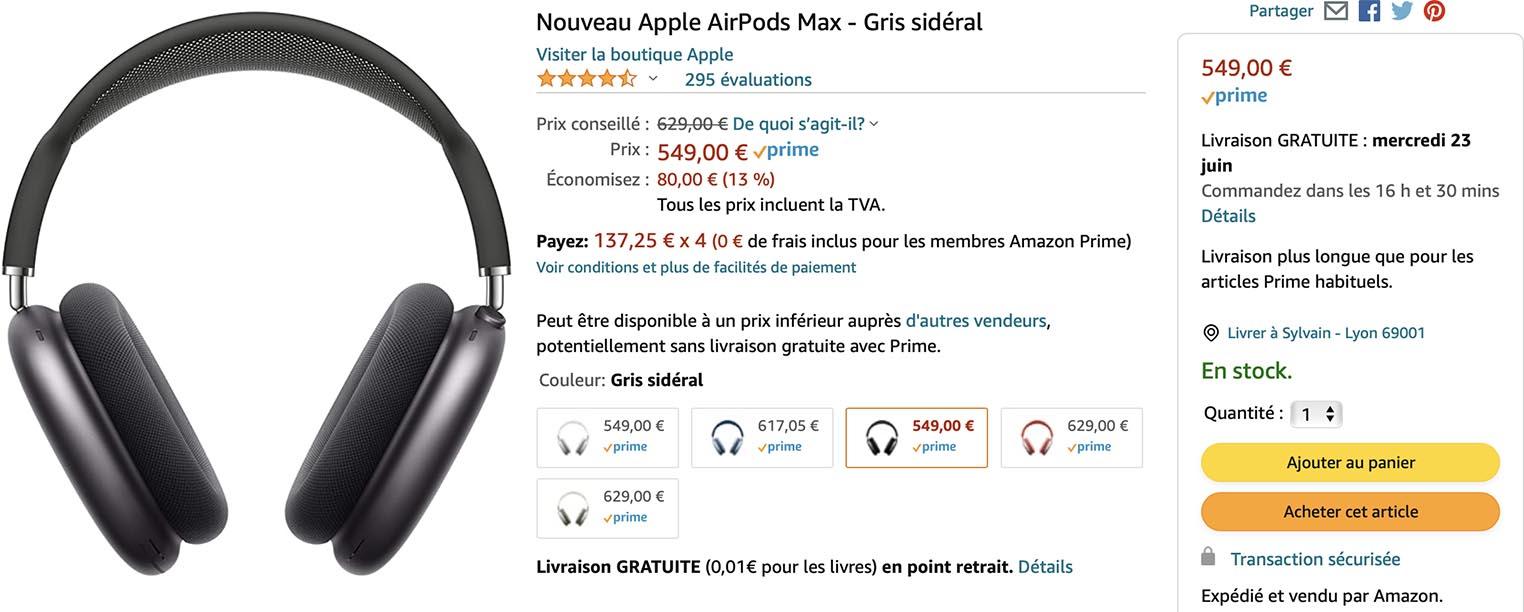 AirPods Max Amazon