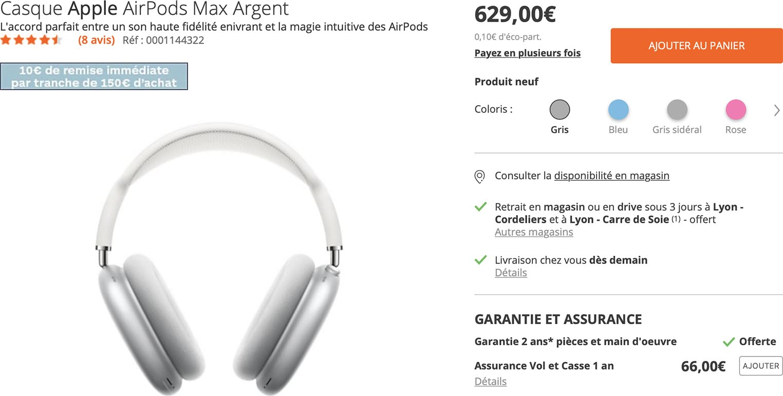 AirPods Max Boulanger