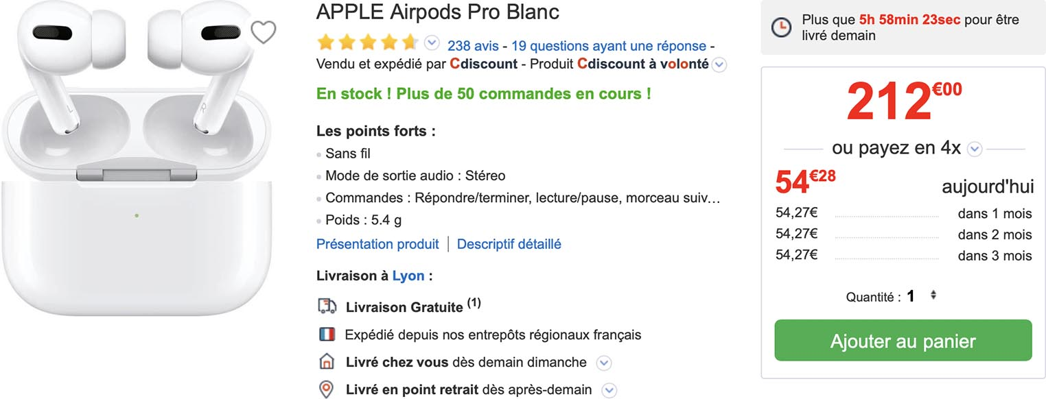 AirPods Pro CDiscount