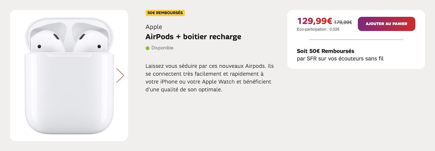 AirPods promo SFR