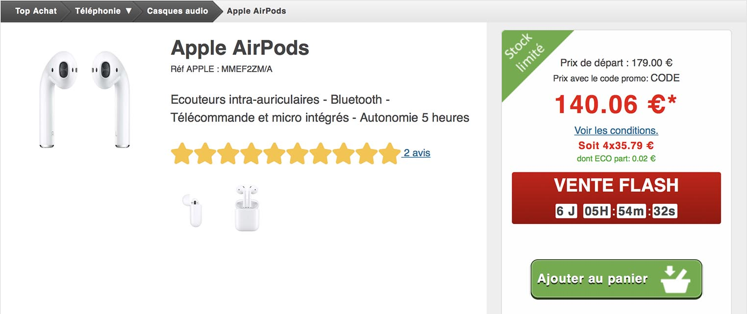 AirPods Top Achat