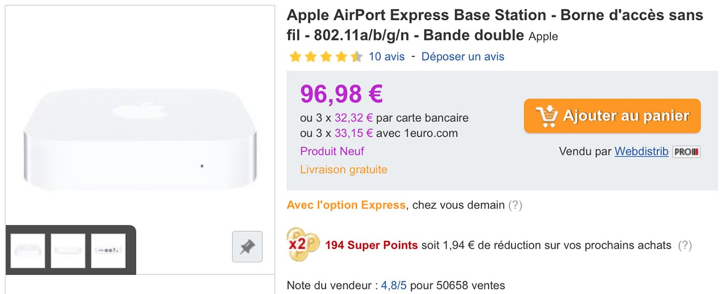 AirPort Express PriceMinister