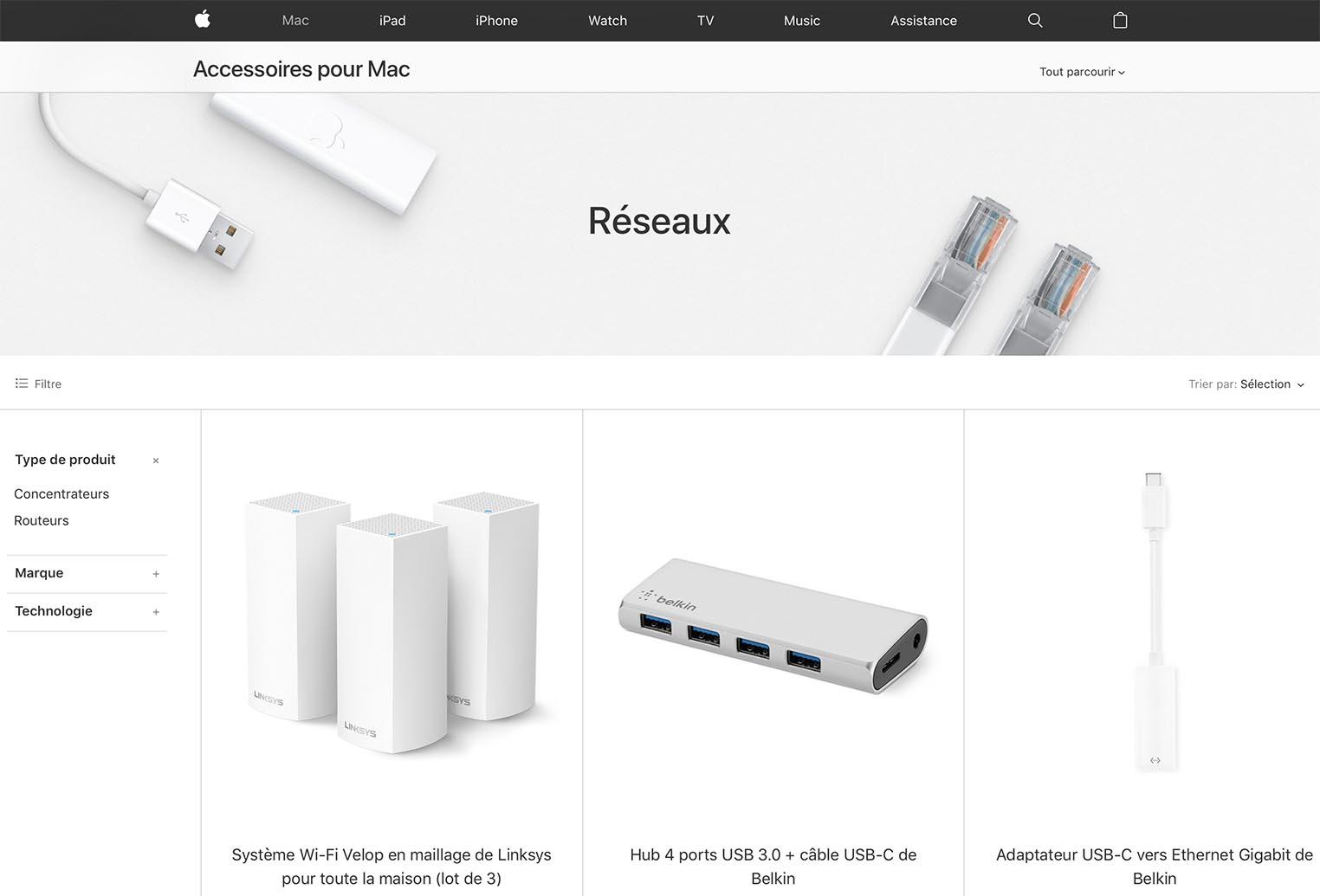 Apple Store réseaux