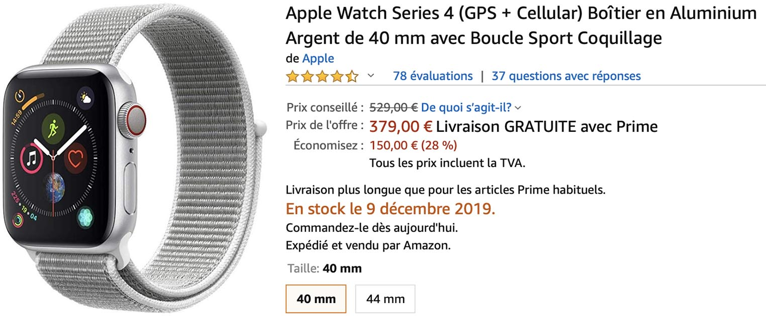 Amazon Apple Watch Series 4