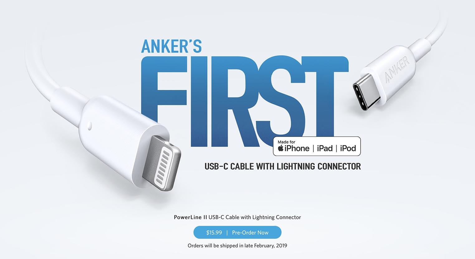 Anker USB-C vers Lightning