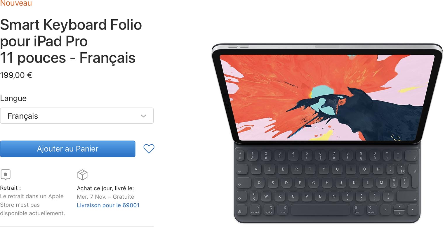 iPad Pro 2018 Smart Keyboard Folio