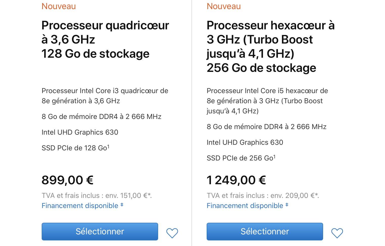 Mac mini 2018 tarifs