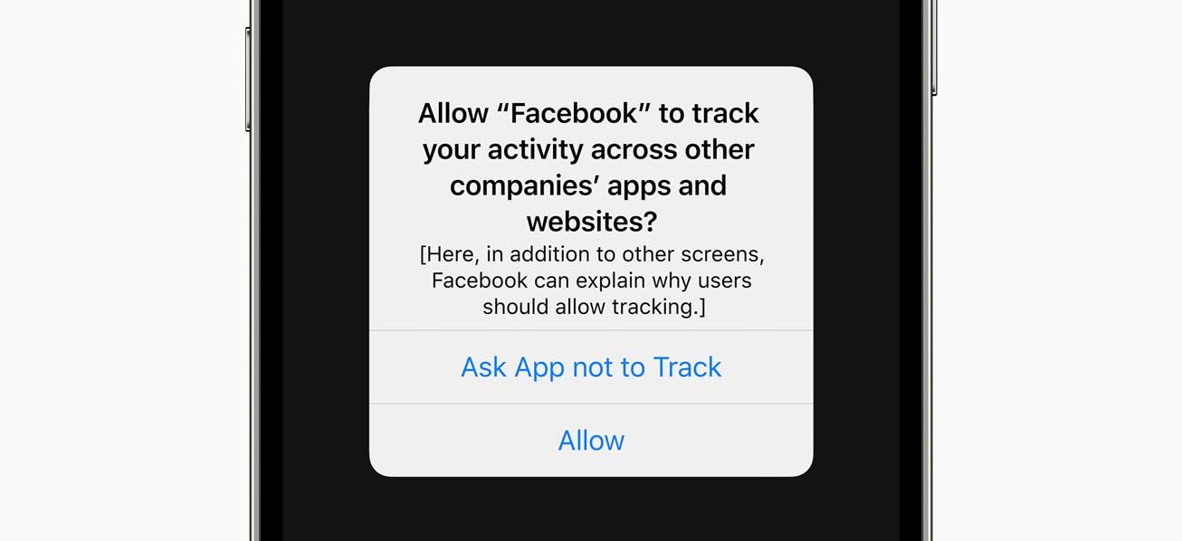 Panneau Anti-suivi publicitaire iOS 14.5