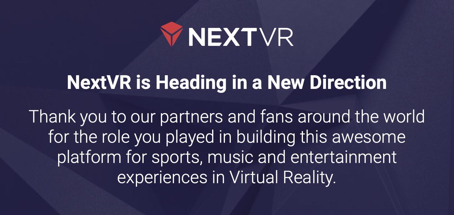 Rachat NextVR Apple
