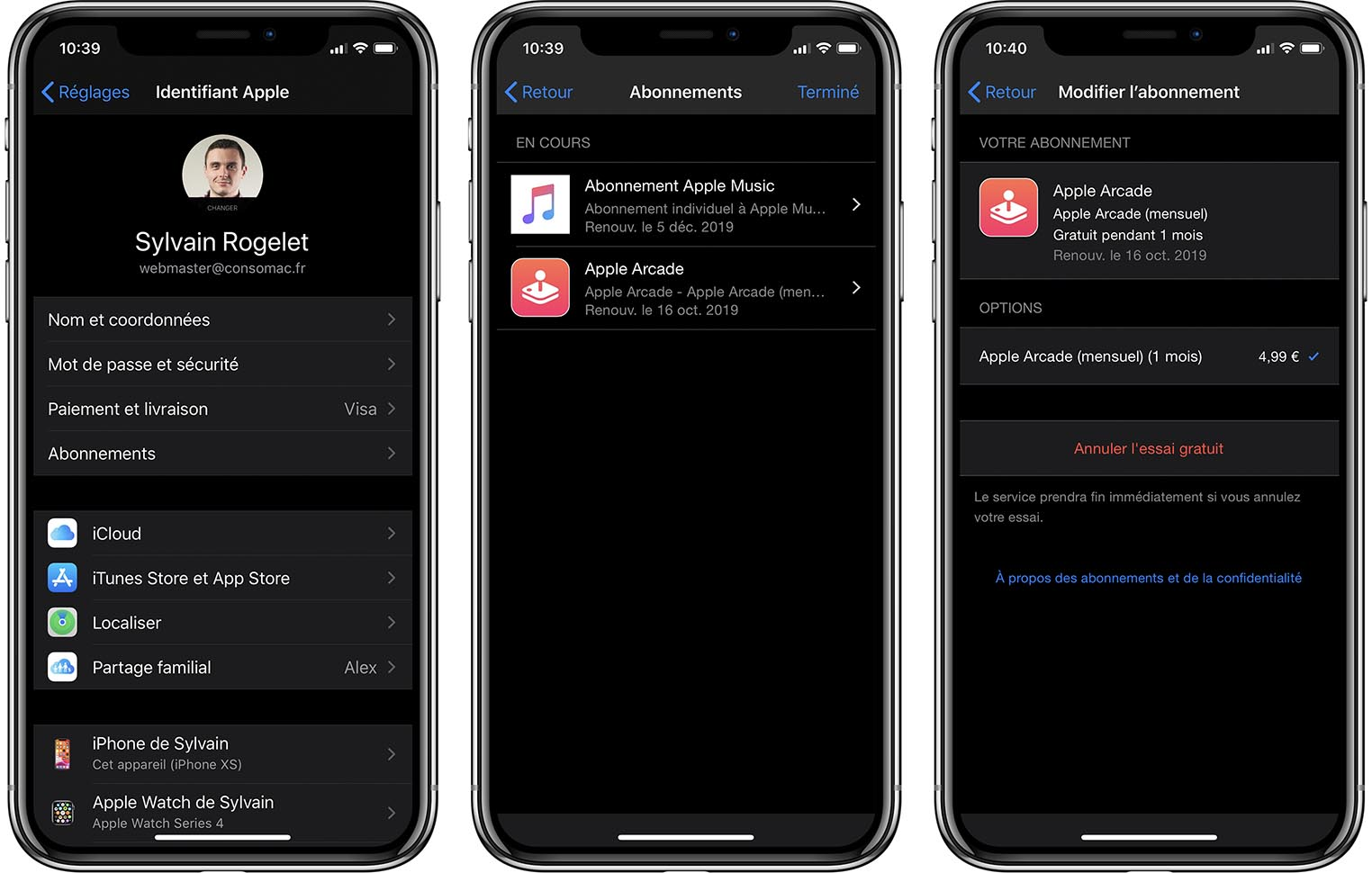 Désabonnement Apple Arcade iOS