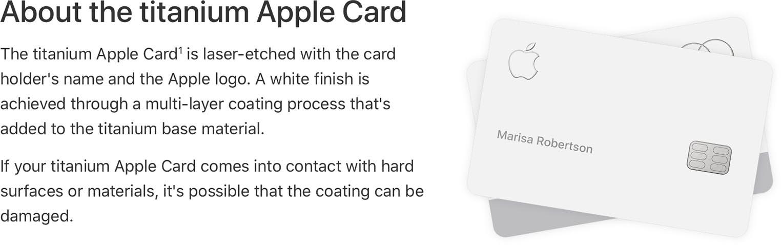 Apple Card entretien