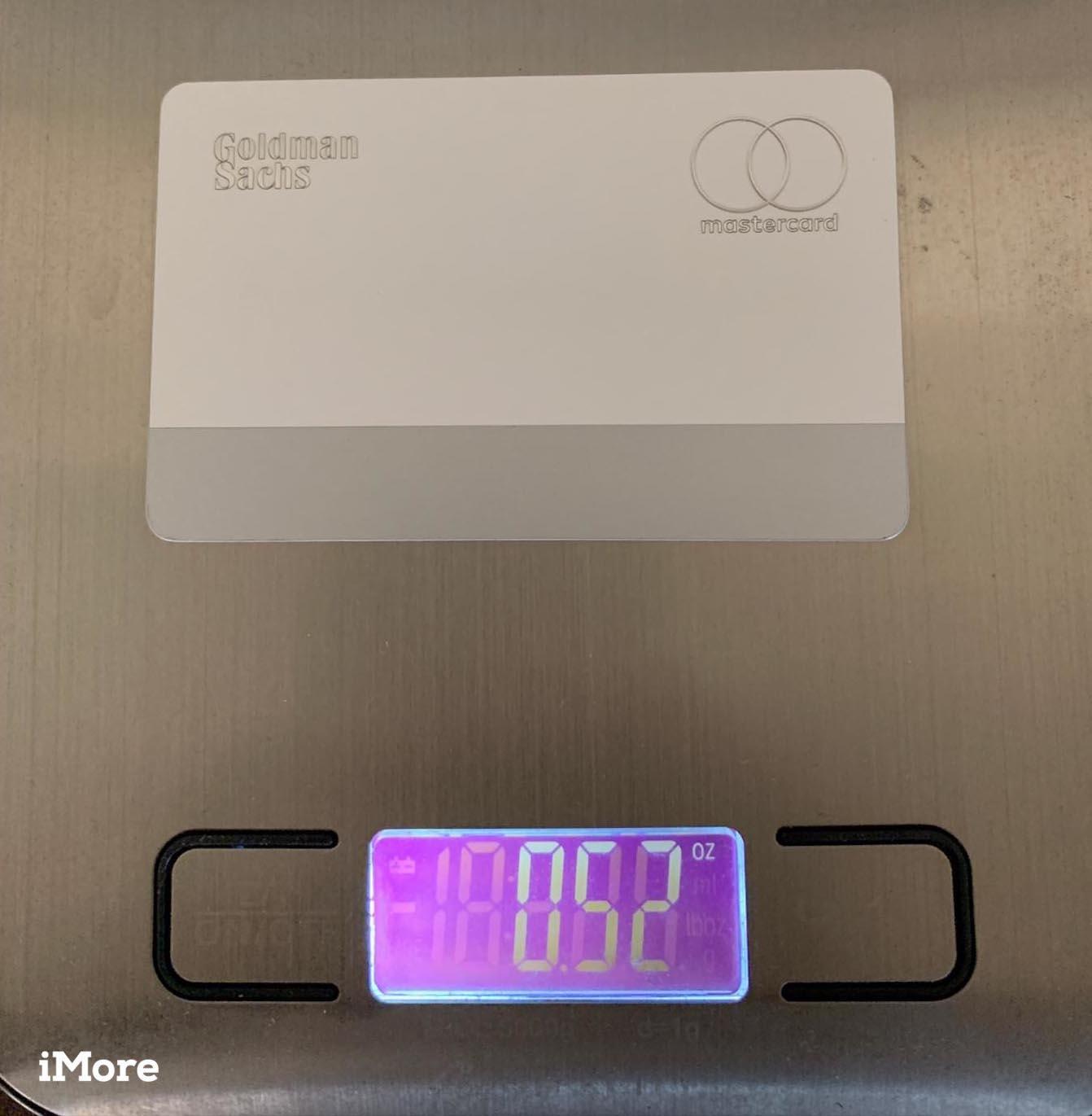 Apple Card poids