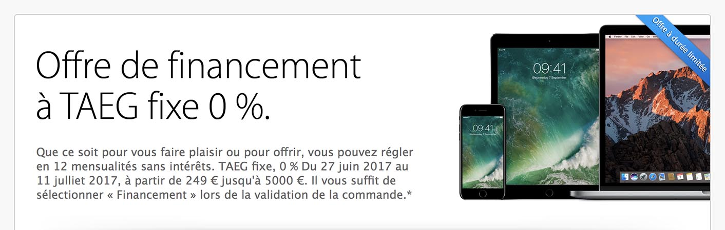 Consomac   Apple lance un crédit à 0% sur l Apple Store ae4e85d5b8ee