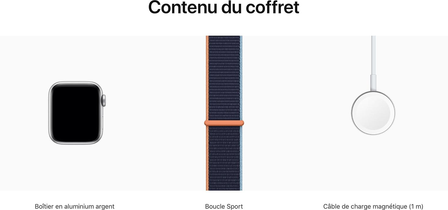 Apple Watch Series 6 contenu du coffret