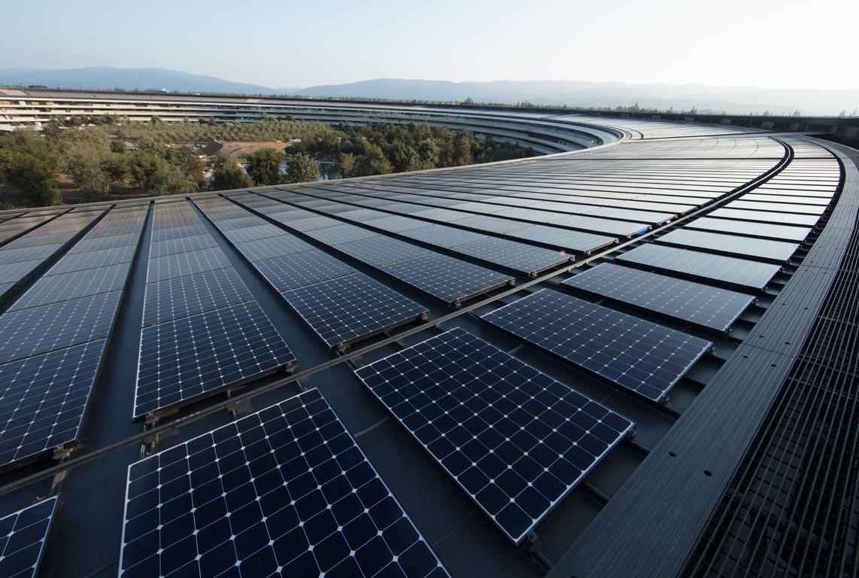 Apple Park panneaux solaires
