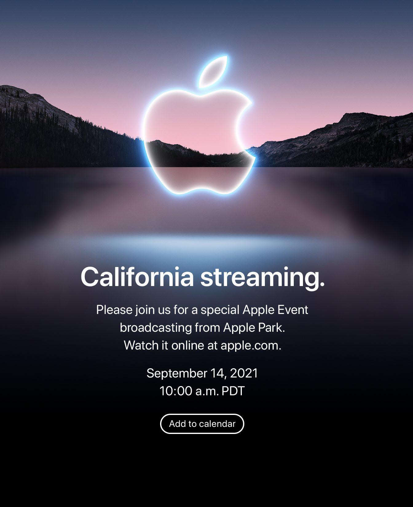Apple Event California Streaming 14 septembre 2021