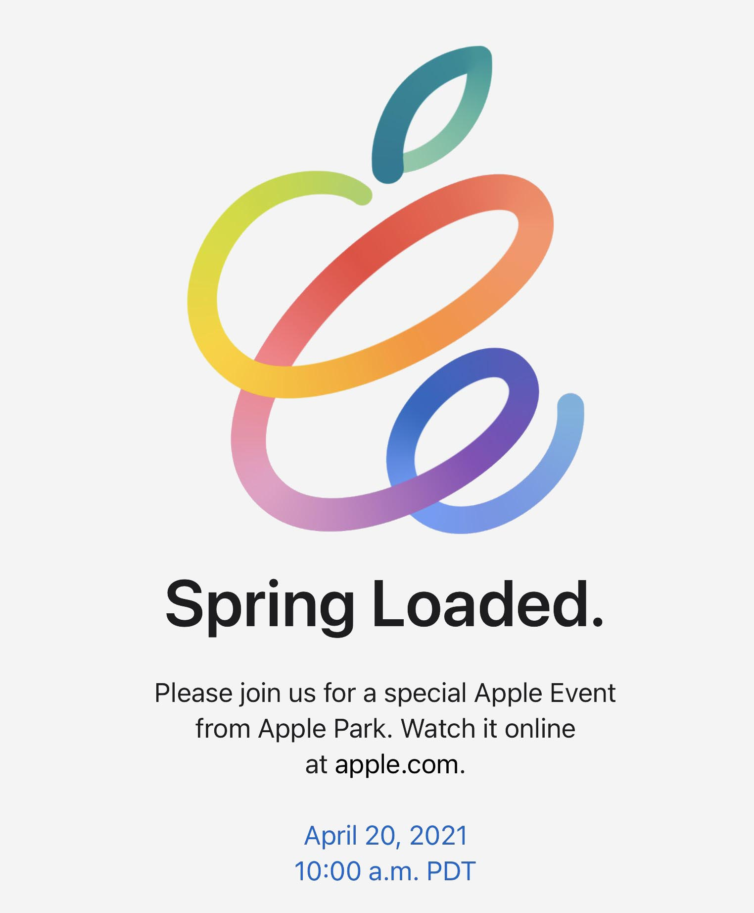 Apple Event avril 2021 Spring Loaded