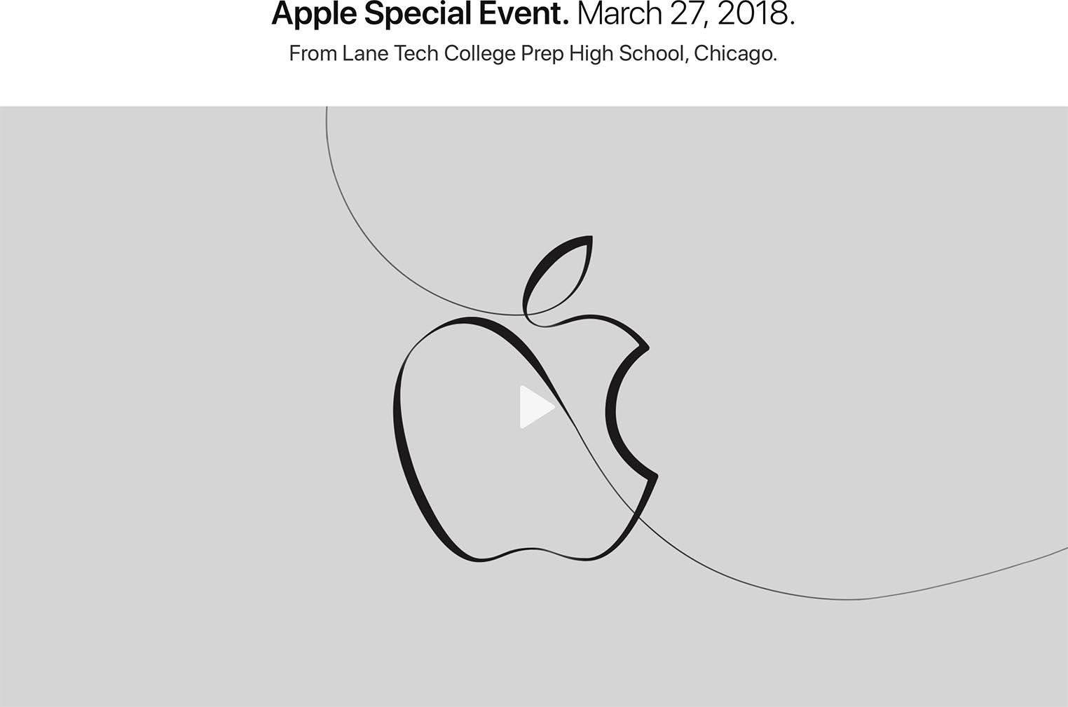 Apple Event mars 2018 vidéo