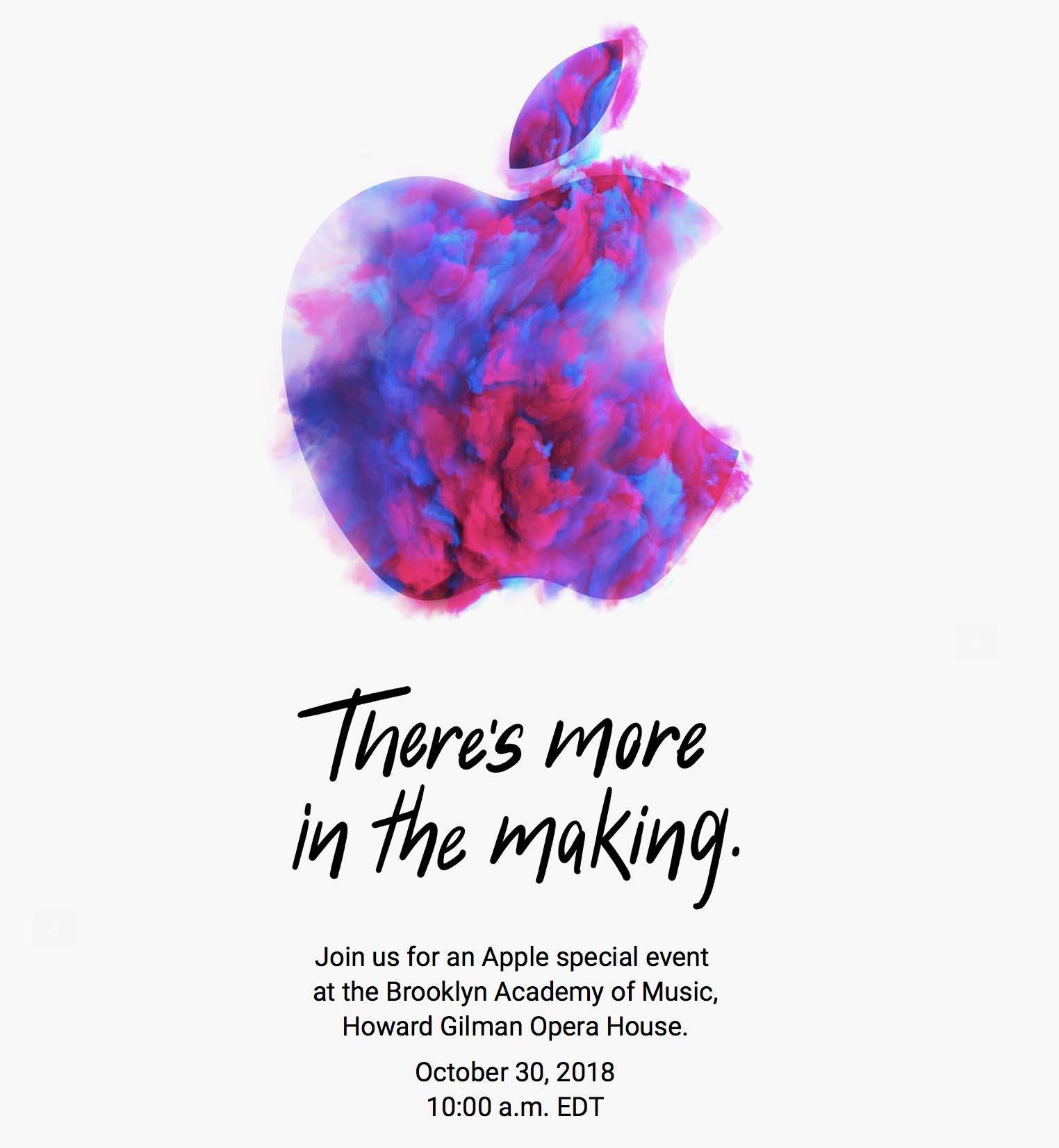 Apple Event octobre 2018