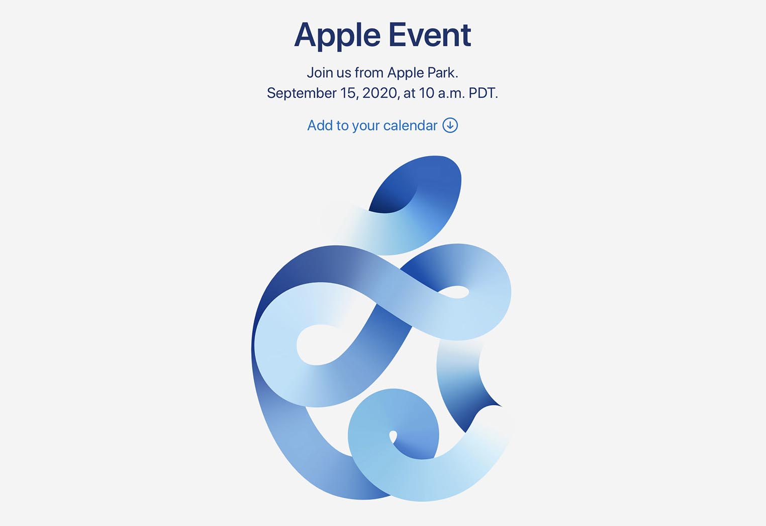 Apple Event 15 septembre 2020
