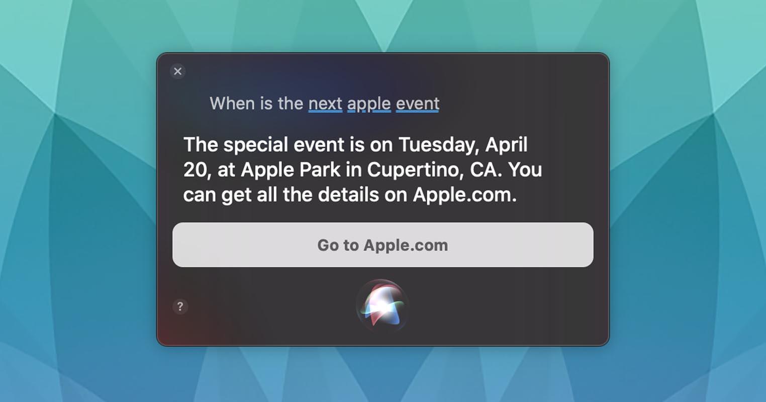 Siri Apple Event 20 avril 2021