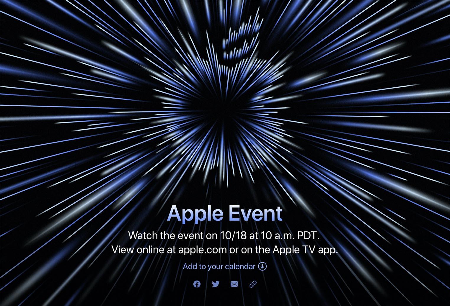 Apple Event Unleashed octobre 2021