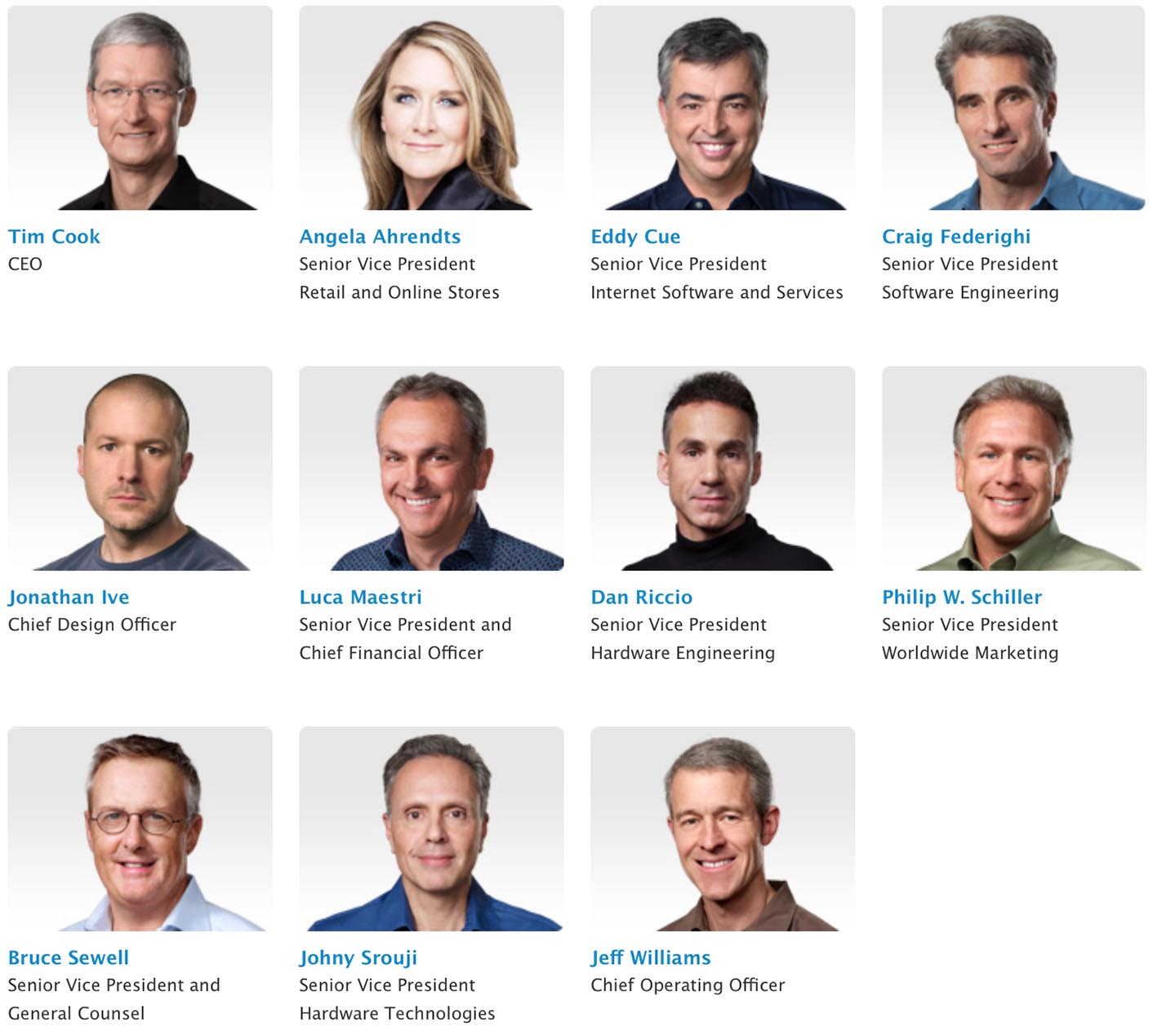 Apple Executives 2015