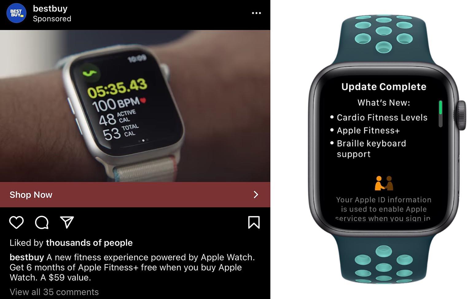Apple Fitness+ promotion Apple Watch Best Buy