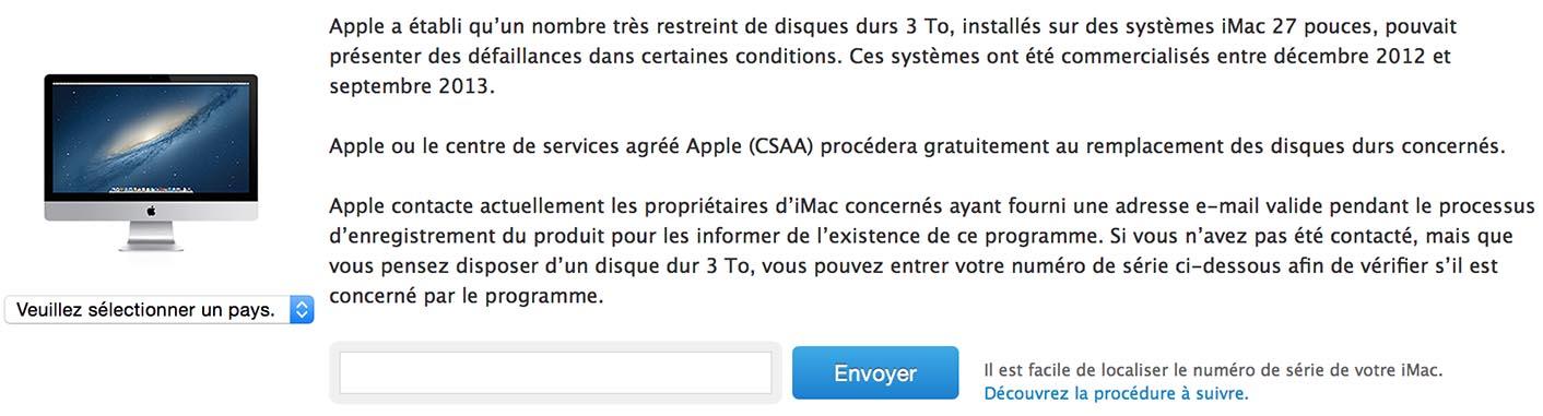 Programme Remplacement iMac 27